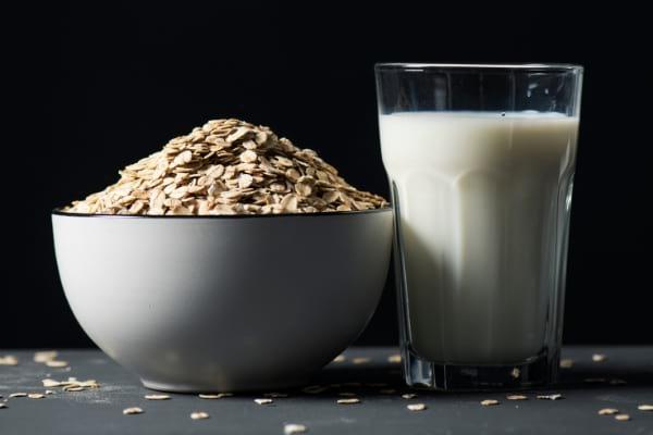 flocon d'avoine et lait