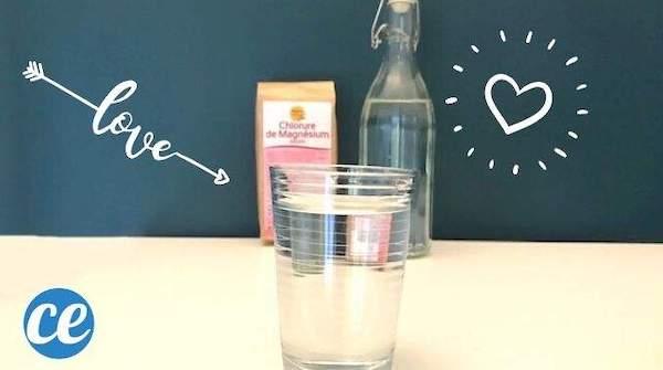 Una vera di acqua e magnesio in cura per aumentare la libido
