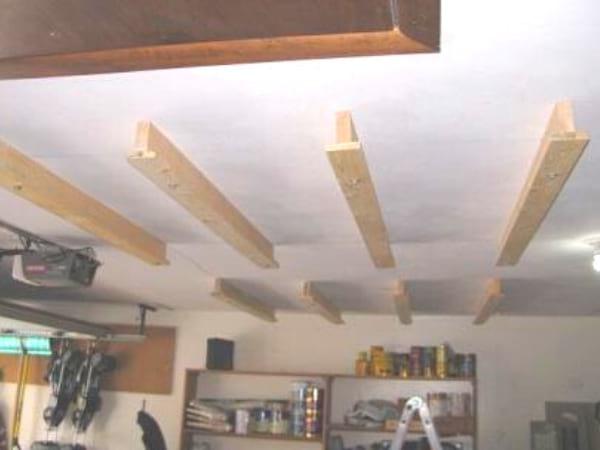 Garage : Comment Faire un Rangement Au Plafond Pour GAGNER de la Place.