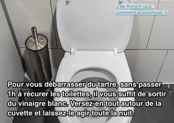 détartrer les toilettes avec du vinaigre blanc