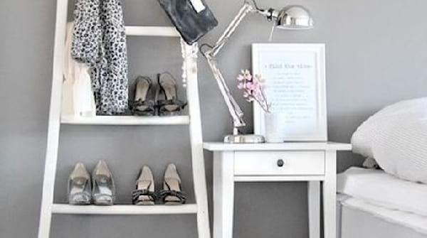 rangement chaussures échelle DIY