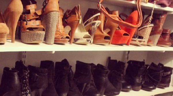 ranger chaussures talons inversé