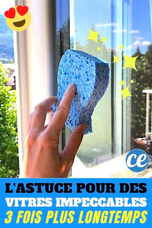 L'Astuce Pour que les vitres Restent Impeccables avec du bicarbonate