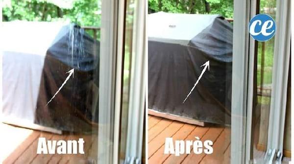faire ses vitres sans traces avec vinaigre blanc