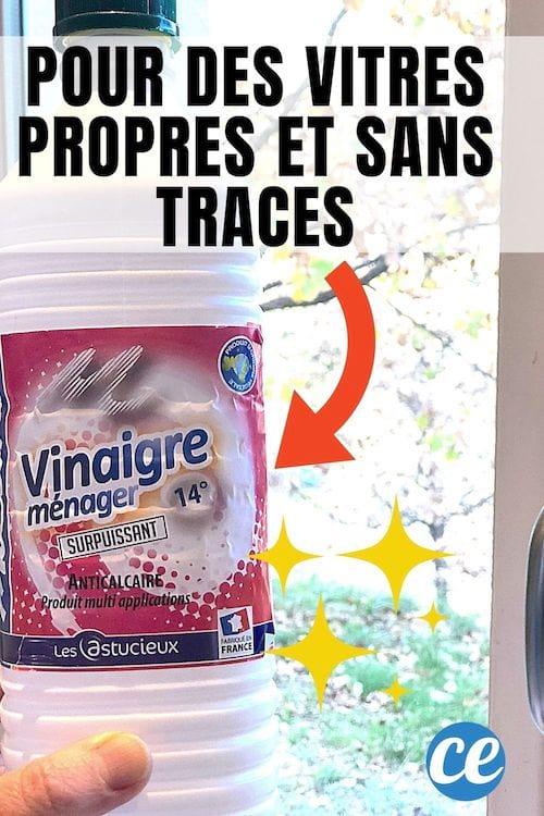 Du vinaigre blanc pour nettoyer les vitres sans laisser de traces
