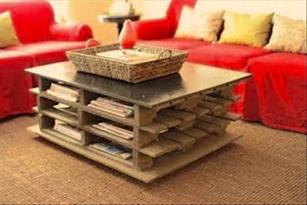 Table basse faite avec des palettes