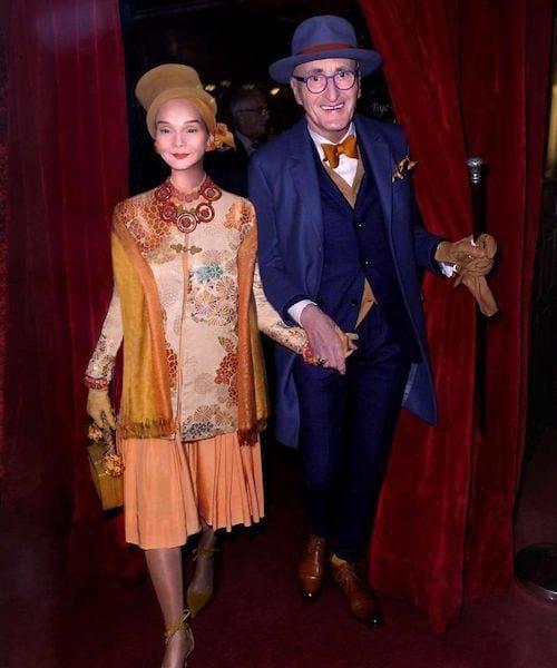 Couple allemand dans un gala