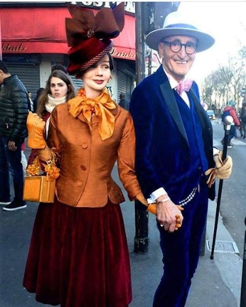Couple allemand souriant