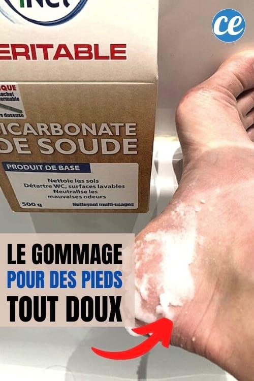 gommage maison au bicarbonate pour les pieds