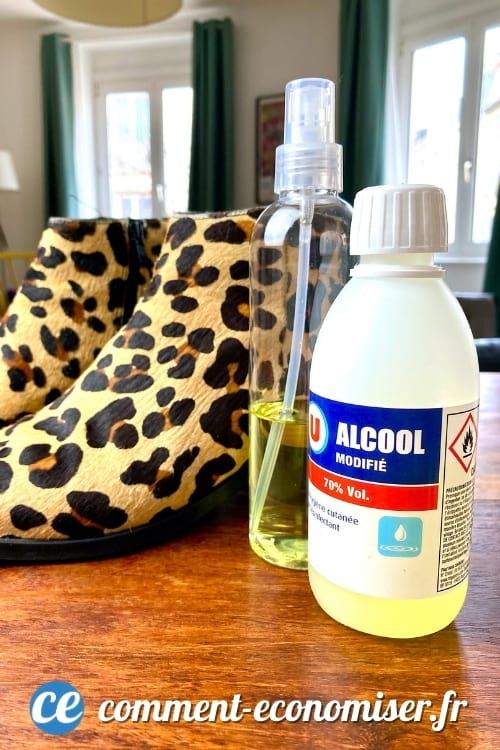 L'alcool à 70º aide à agrandir les chaussures trop petites.