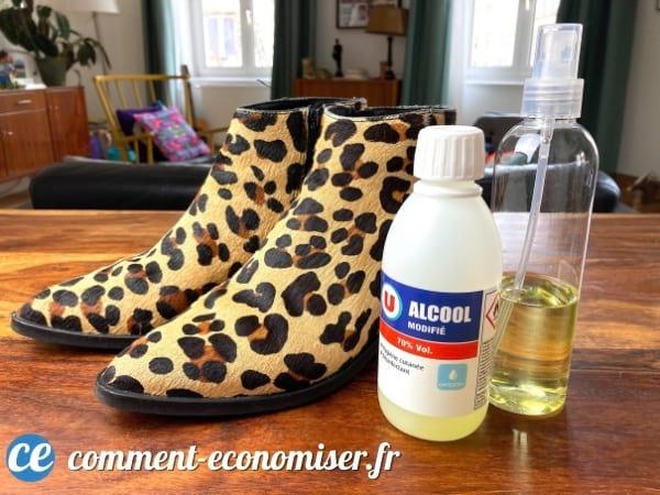 Utilisez de l'alcool à 70º pour agrandir les chaussures trop petites.