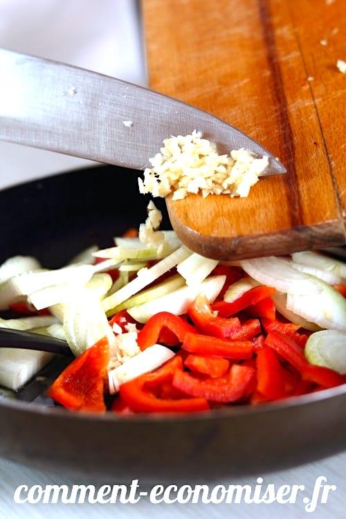 Pour un goût plus léger, ajoutez votre ail en début de recette.