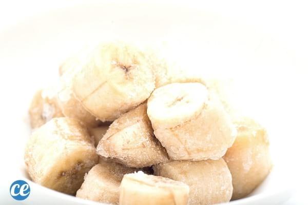 rondelle de banane congelée