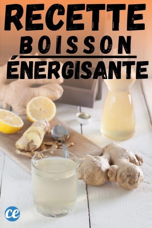 recette boisson énergisante au citron gingembre et miel