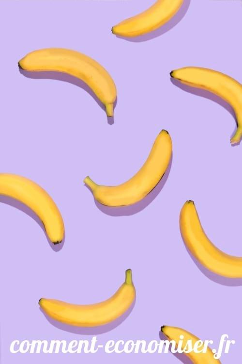 Séparez les bananes du régime pour les empêcher de noircir.