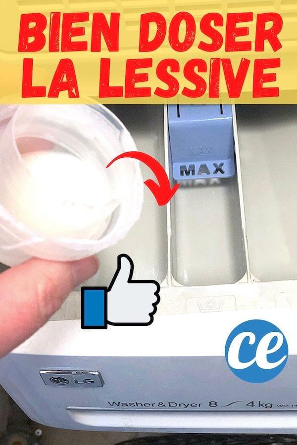 Bien doser la lessive liquide dans la machine à laver le linge