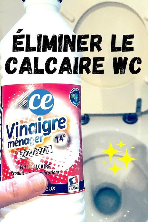 Comment éliminer le calcaire dans le fond des toilettes avec du vinaigre blanc
