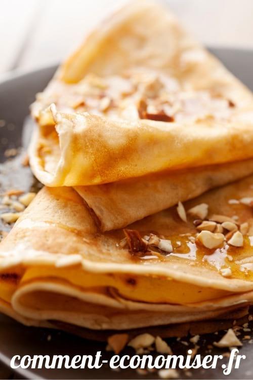 Pour des crêpes plus faciles à digérer, ajoutex de l'eau pétillante à la pâte.