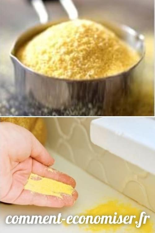 Utilisez de la semoule de maïs pour vous débarrasser des fourmis.