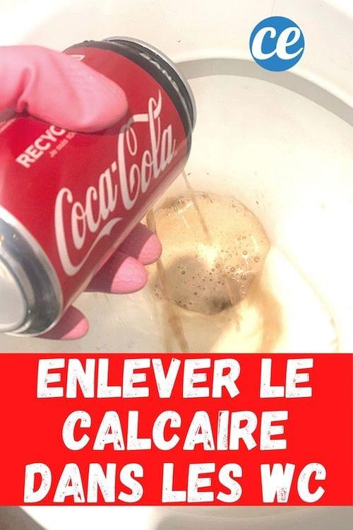 Du coca versé dans les toilettes pour enlever le calcaire