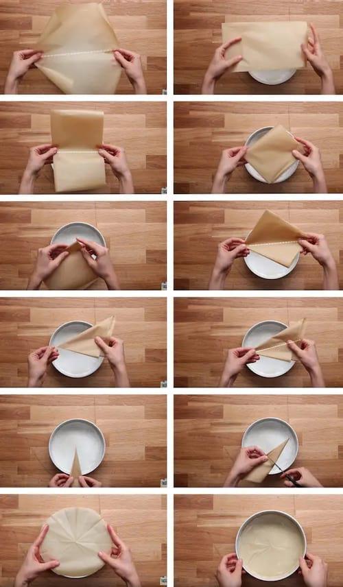 Comment couper du papier sulfurisé en un cercle parfait.