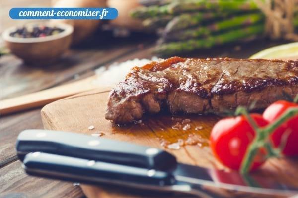 Il faut toujours laisser la viande reposer après la cuisson.