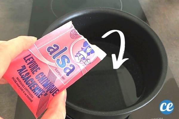 Un paquet de levure chimique pour éviter d'avoir des ballonnements