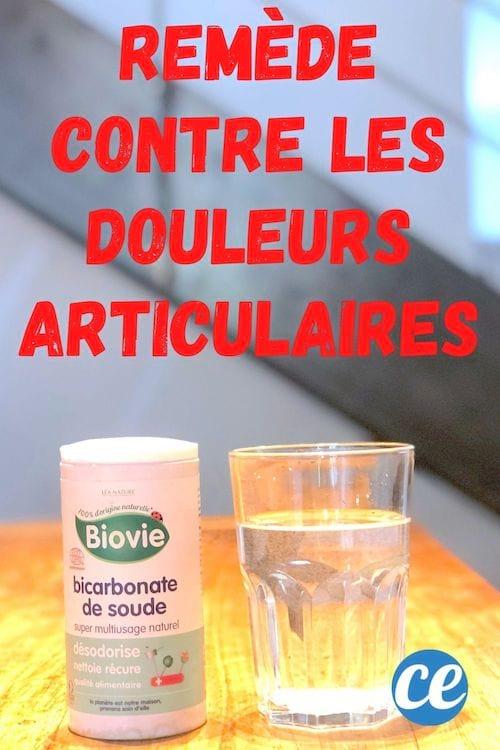 Du bicarbonate et un verre d'eau pour lutter contre les douleurs articulaires