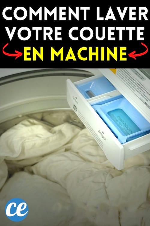 Une couette en machine à laver pour la nettoyer en profondeur à la maison