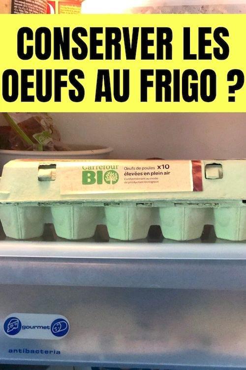 une boite de 10 oeufs bio conservés au frigo