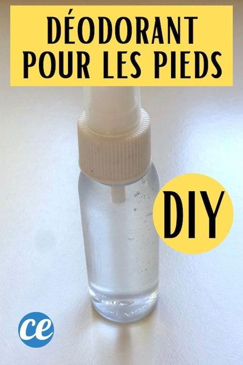 Un spray déodorant pour les pieds fait maison