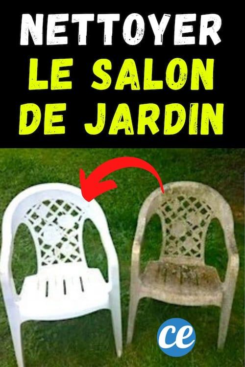 nettoyer des chaises en plastique vert avec du vinaigre blanc du bicarbonate et du liquide vaisselle