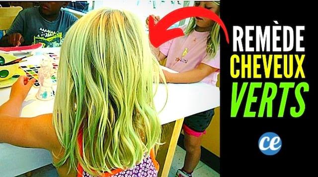 Le remède contre les cheveux blonds devenus verts à cause de la piscine