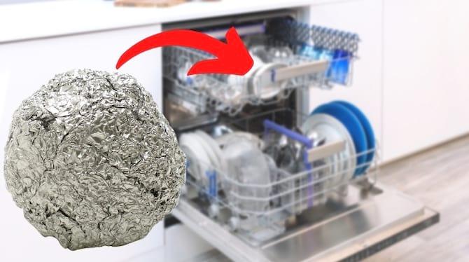 boule d'aluminium dans le lave-vaisselle