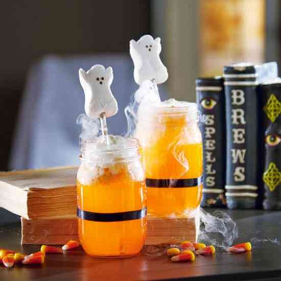 cocktail fumant pour halloween