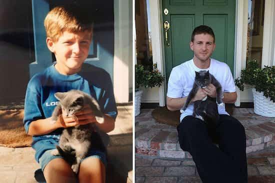 39 photos avant apr s qui montrent comment l 39 amour a chang la vie de ces chats - Chat qui dort sur son maitre ...