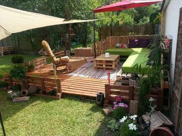 vous pouvez réaliser un patio avec des palettes