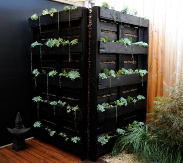 faire un jardin intérieur avec les palettes
