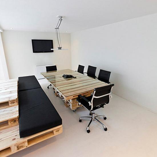 Du mobilier pour votre bureau en palettes !