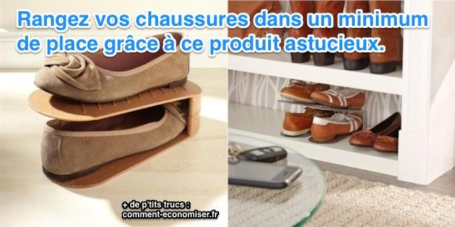 un produit tonnant pour ranger ses chaussures et gagner de la place. Black Bedroom Furniture Sets. Home Design Ideas