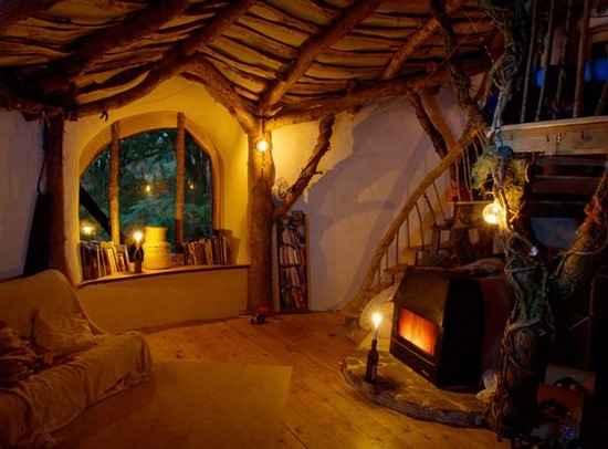 intérieur de maison de fée au pays de galles