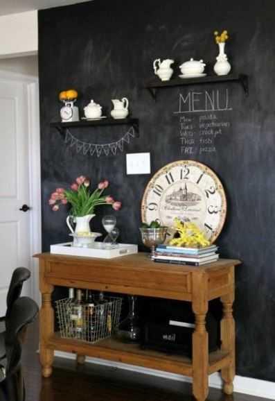 id e d co diy un tableau noir bistrot dans ma cuisine. Black Bedroom Furniture Sets. Home Design Ideas