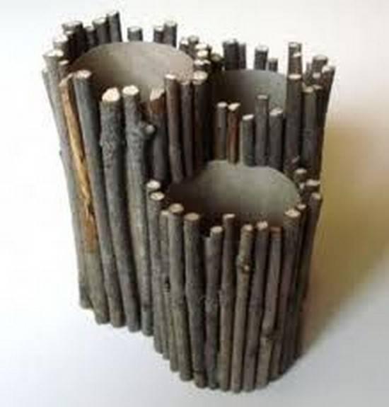 pot à crayon bois facile à faire rouleau papier toilette