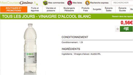 Prix du vinaigre blanc notre comparatif par supermarch - Vinaigre blanc composition ...