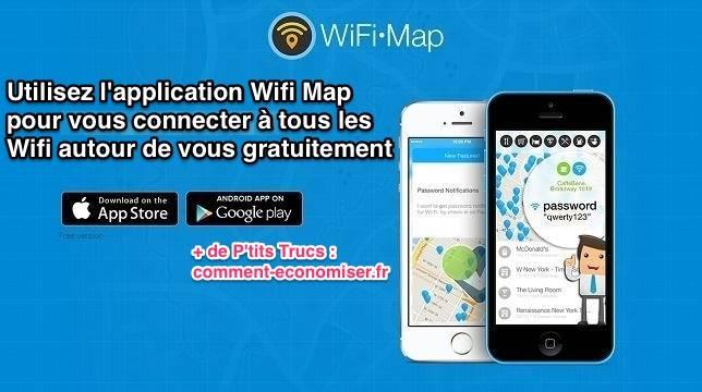 Utilisez l'app Wifi Map pour avoir les mots de passe wifi en vacances