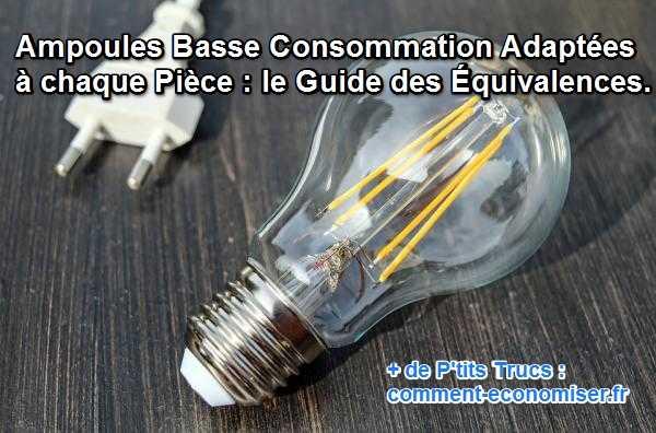le guide des ampoules basse consommation adapt es chaque pi ce. Black Bedroom Furniture Sets. Home Design Ideas