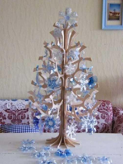 recycler bouteille pour décorer sapin de noel