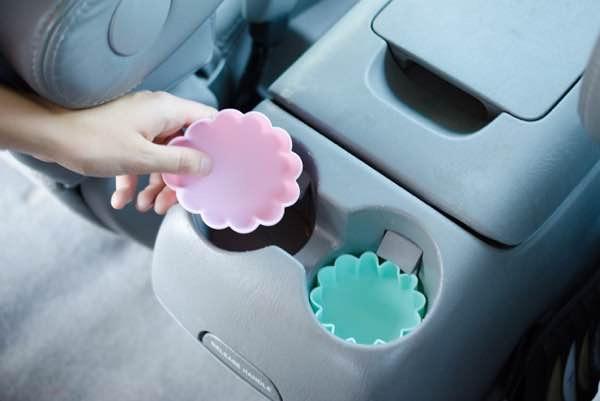 Utilisez des moules à cupcakes pour ne pas salir voiture