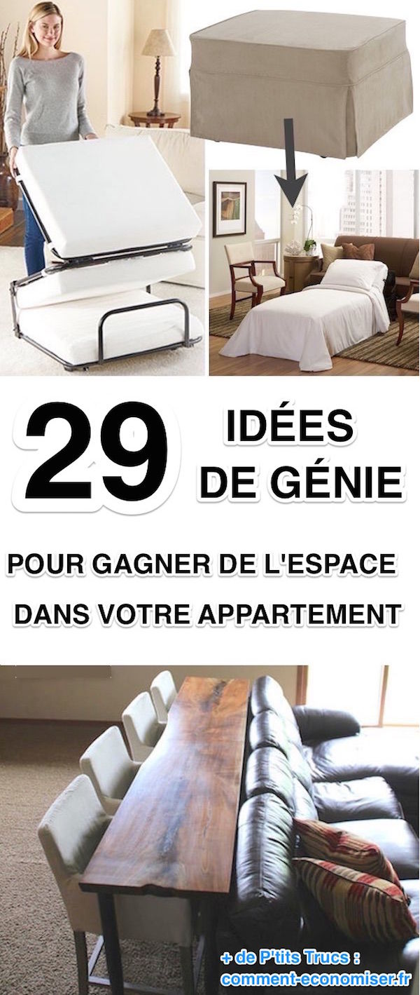 29 id es de g nie pour gagner de la place dans votre. Black Bedroom Furniture Sets. Home Design Ideas