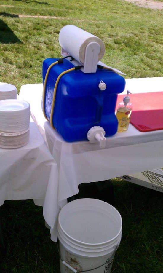 Saviez-vous que vous pouvez recycler votre fontaine isotherme en poste de lavages de mains ?